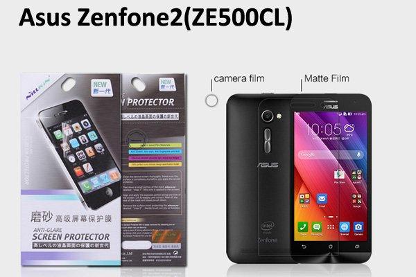 【ネコポス送料無料】ASUS Zenfone2 (ZE500CL) 液晶保護フィルムセット アンチグレアタイプ  [1]