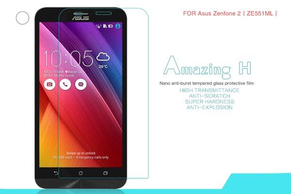 【ネコポス送料無料】ASUS Zenfone2 (ZE551ML) 強化ガラスフィルム ナノコーティング 硬度9H  [1]