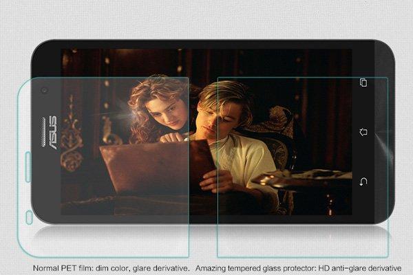 【ネコポス送料無料】ASUS Zenfone2 (ZE551ML) 強化ガラスフィルム ナノコーティング 硬度9H  [3]