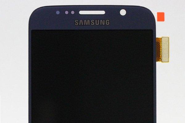 Galaxy S6 (SM-G920 SC-05G) フロントパネルASSY ブラック  [3]