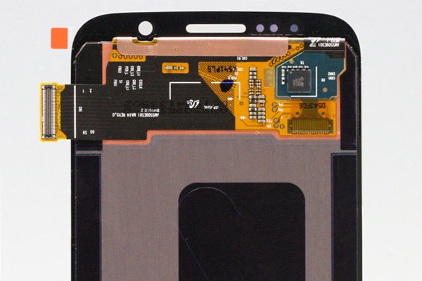 Galaxy S6 (SM-G920 SC-05G) フロントパネルASSY ブラック  [4]