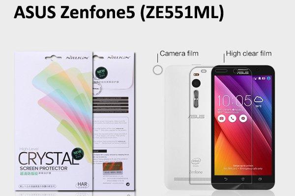 【ネコポス送料無料】ASUS Zenfone2 (ZE551ML) 液晶保護フィルムセット クリスタルクリアタイプ  [1]