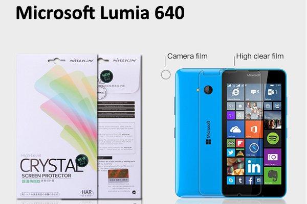 【ネコポス送料無料】Microsoft LUMIA640 液晶保護フィルムセット クリスタルクリアタイプ  [1]