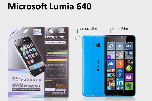 【ネコポス送料無料】Microsoft LUMIA640 液晶保護フィルムセット アンチグレアタイプ  [1]