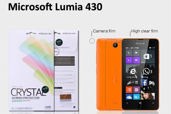 【ネコポス送料無料】Microsoft LUMIA430 液晶保護フィルムセット クリスタルクリアタイプ  [1]