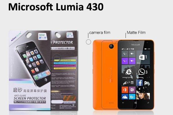 【ネコポス送料無料】Microsoft LUMIA430 液晶保護フィルムセット アンチグレアタイプ  [1]