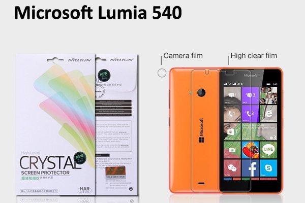 【ネコポス送料無料】Microsoft LUMIA540 液晶保護フィルムセット クリスタルクリアタイプ  [1]