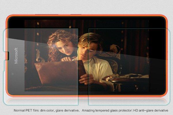 【ネコポス送料無料】Microsoft LUMIA 540 強化ガラスフィルム ナノコーティング 硬度9H  [3]