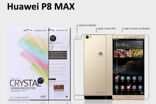 【ネコポス送料無料】Huawei P8 MAX 液晶保護フィルムセット クリスタルクリアタイプ  [1]