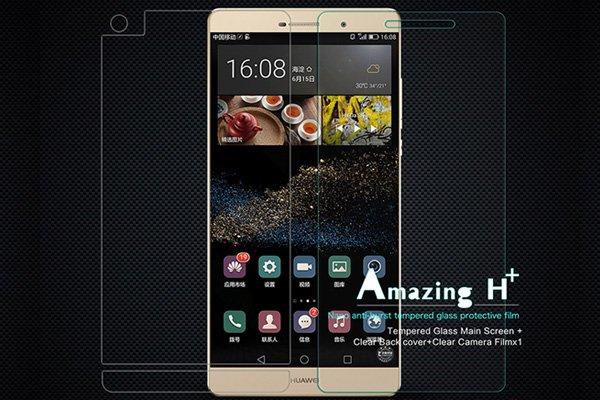 【ネコポス送料無料】Huawei  P8 MAX 強化ガラスフィルム ナノコーティング 硬度9H  [1]