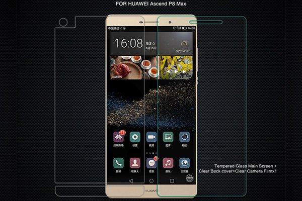 【ネコポス送料無料】Huawei  P8 MAX 強化ガラスフィルム ナノコーティング 硬度9H  [2]