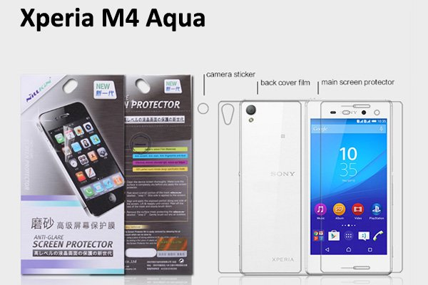 【ネコポス送料無料】Xperia M4 Aqua液晶保護フィルムセット アンチグレアタイプ  [1]