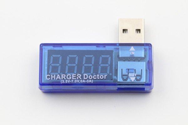 【ネコポス送料無料】USB 簡易電圧 電流チェッカー L型  全2色  [1]
