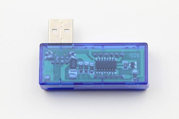 【ネコポス送料無料】USB 簡易電圧 電流チェッカー L型  全2色  [2]