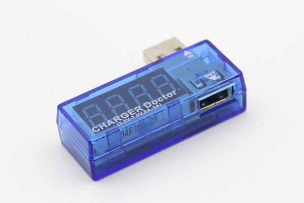 【ネコポス送料無料】USB 簡易電圧 電流チェッカー L型  全2色  [3]