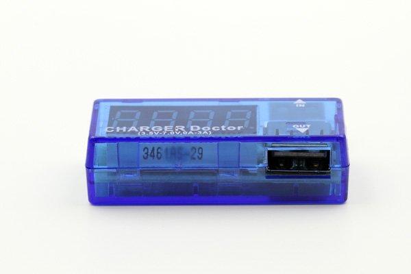 【ネコポス送料無料】USB 簡易電圧 電流チェッカー L型  全2色  [4]