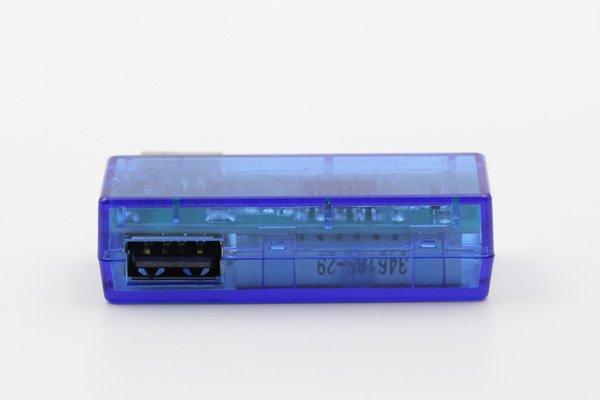 【ネコポス送料無料】USB 簡易電圧 電流チェッカー L型  全2色  [5]