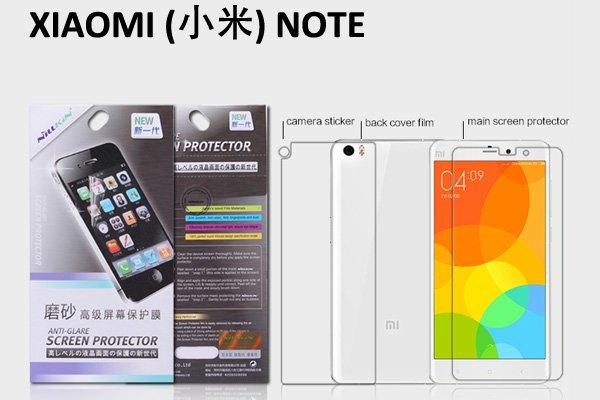 【ネコポス送料無料】XIAOMI(小米)NOTE 液晶保護フィルムセット アンチグレアタイプ  [1]