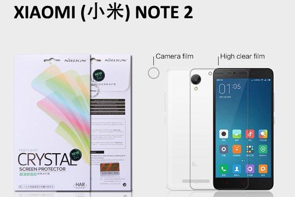 【ネコポス送料無料】XIAOMI(小米)NOTE2 液晶保護フィルムセット クリスタルクリアタイプ 送料無料 [1]