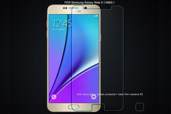 【ネコポス送料無料】Galaxy Note5 (SM-N920) 強化ガラスフィルム ナノコーティング 硬度9H  [1]