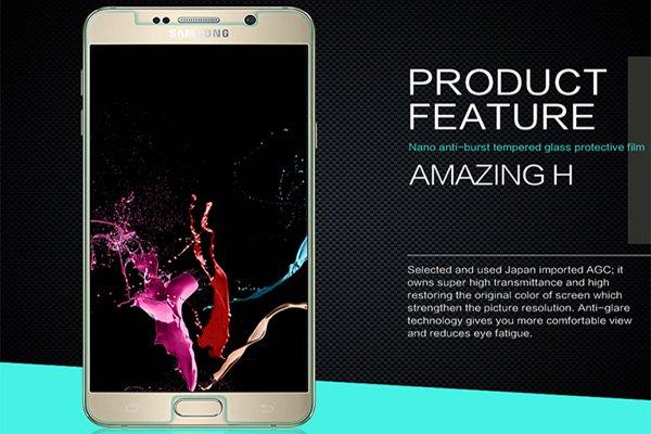 【ネコポス送料無料】Galaxy Note5 (SM-N920) 強化ガラスフィルム ナノコーティング 硬度9H  [2]