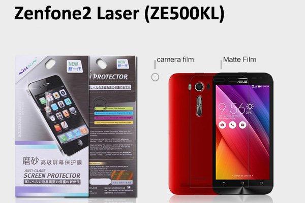 【ネコポス送料無料】Zenfone2 Laser (ZE500KL) 液晶保護フィルムセット アンチグレアタイプ [1]