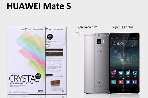 【ネコポス送料無料】Huawei Ascend Mate S 液晶保護フィルムセット クリスタルクリアタイプ [1]