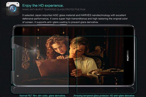 【ネコポス送料無料】Huawei Ascend Mate S 強化ガラスフィルム ナノコーティング 硬度9H  [3]