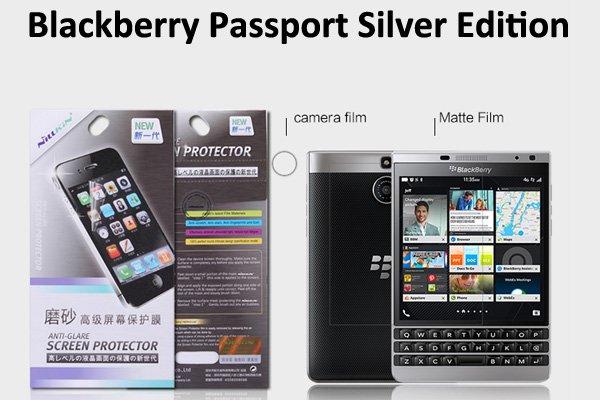 【ネコポス送料無料】Blackberry Passport Silver Edition液晶保護フィルムセット アンチグレアタイプ  [1]