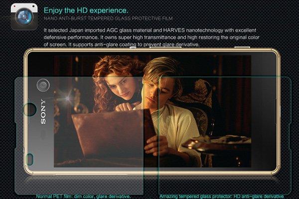 【ネコポス送料無料】Xperia M5 強化ガラスフィルム ナノコーティング 硬度9H  [3]