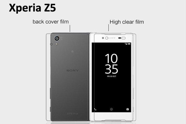 【ネコポス送料無料】Xperia Z5 液晶保護フィルムセット クリスタルクリアタイプ  [1]