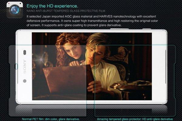 【ネコポス送料無料】Xperia Z5 強化ガラスフィルム ナノコーティング 硬度9H  [3]
