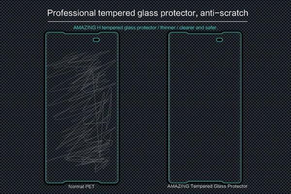 【ネコポス送料無料】Xperia Z5 強化ガラスフィルム ナノコーティング 硬度9H  [4]
