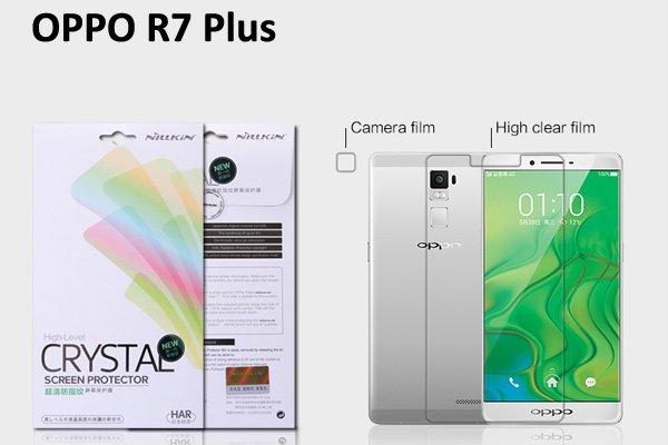 【ネコポス送料無料】OPPO R7 Plus 液晶保護フィルムセット クリスタルクリアタイプ [1]
