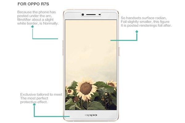 【ネコポス送料無料】OPPO R7S 強化ガラスフィルム ナノコーティング 硬度9H [7]