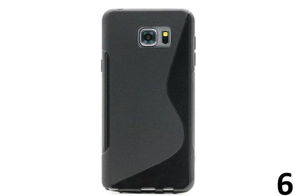 【ネコポス送料無料】SAMSUNG Galaxy Note5 用TPUケース 液晶保護フィルム付き 全8色  [12]