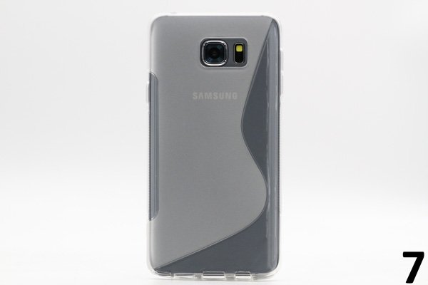 【ネコポス送料無料】SAMSUNG Galaxy Note5 用TPUケース 液晶保護フィルム付き 全8色  [14]