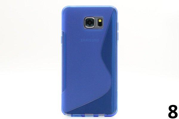 【ネコポス送料無料】SAMSUNG Galaxy Note5 用TPUケース 液晶保護フィルム付き 全8色  [16]