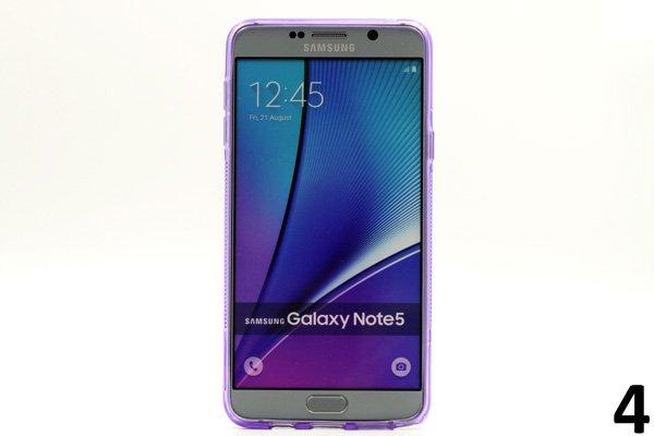 【ネコポス送料無料】SAMSUNG Galaxy Note5 用TPUケース 液晶保護フィルム付き 全8色  [7]