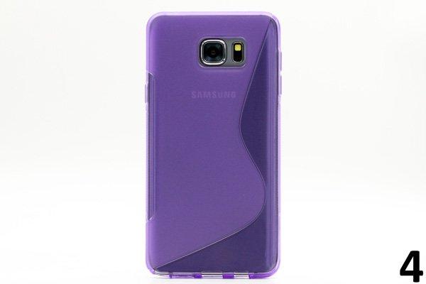 【ネコポス送料無料】SAMSUNG Galaxy Note5 用TPUケース 液晶保護フィルム付き 全8色  [8]