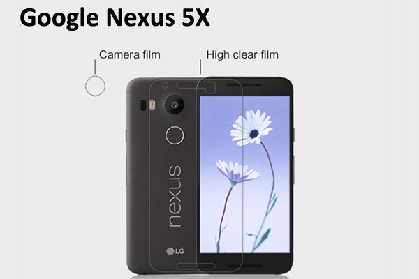 【ネコポス送料無料】Nexus5X 液晶保護フィルムセット クリスタルクリアタイプ  [1]