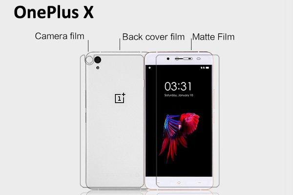 【ネコポス送料無料】One Plus X 液晶保護フィルムセット アンチグレアタイプ [1]