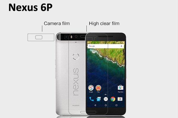 【ネコポス送料無料】Nexus 6P 液晶保護フィルムセット クリスタルクリアタイプ  [1]