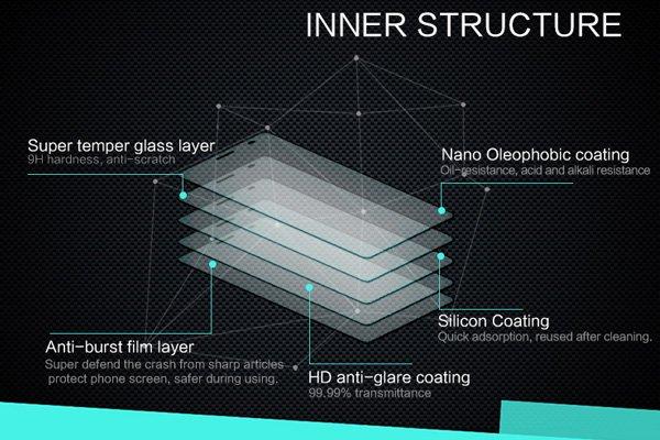 【ネコポス送料無料】Huawei Mate8 強化ガラスフィルム ナノコーティング 硬度9H  [6]