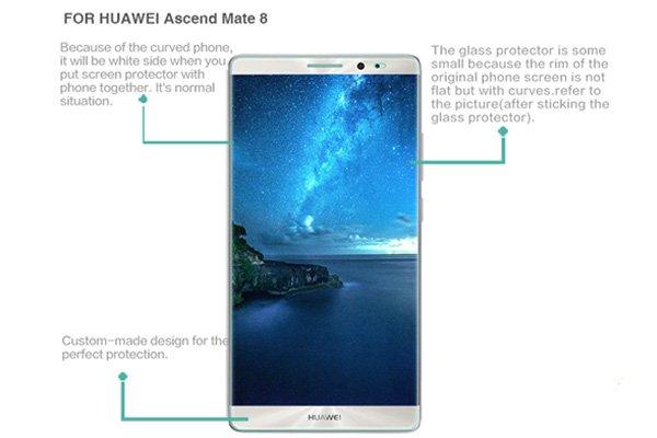 【ネコポス送料無料】Huawei Mate8 強化ガラスフィルム ナノコーティング 硬度9H  [7]