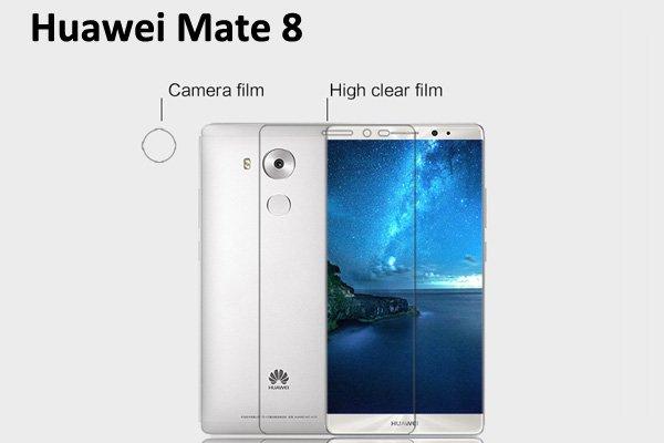 【ネコポス送料無料】Huawei Mate8 液晶保護フィルムセット クリスタルクリアタイプ [1]