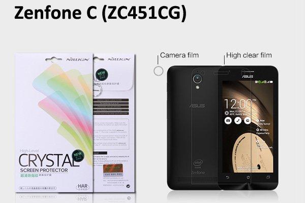【ネコポス送料無料】Zenfone C (ZC451CG) 液晶保護フィルムセット クリスタルクリアタイプ [1]