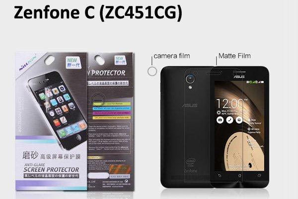 【ネコポス送料無料】Zenfone C (ZC451CG) 液晶保護フィルムセット アンチグレアタイプ [1]