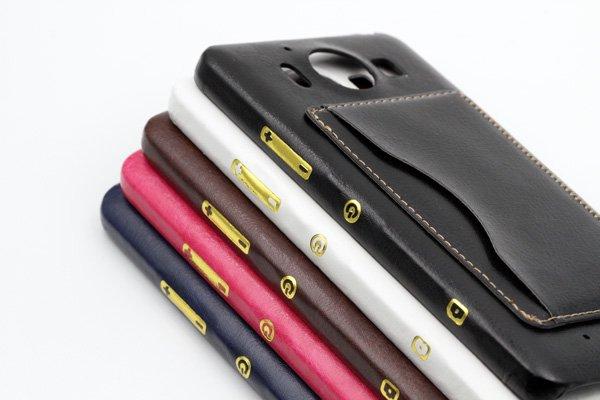 【ネコポス送料無料】Microsoft Lumia950 レザーケース全5色  [15]