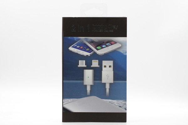 【ネコポス送料無料】iPhone / Android 対応 マグネットケーブル 充電&同期可能 全3色 [4]